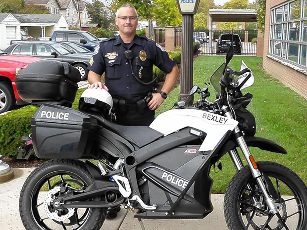 Bexley, Ohio Police Department adds a Zero DS Electric Motorcycle to their police fleet, Click on the picture for the full story.